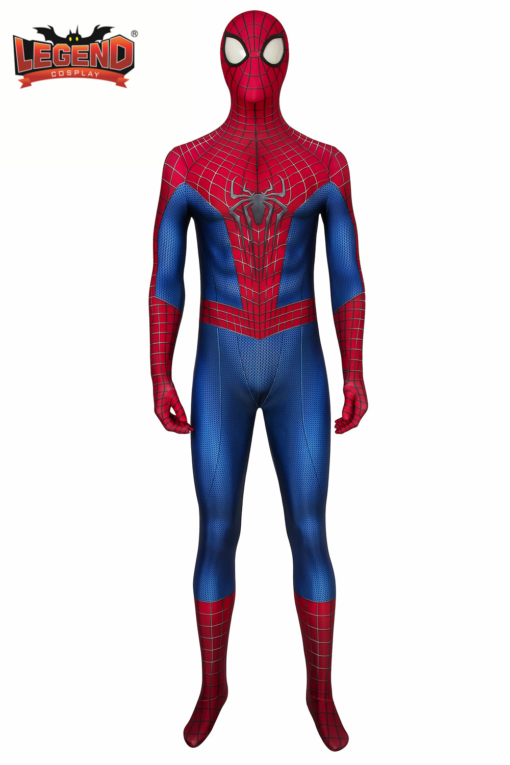 Amazing Spider-Man Silicone Masque Rouge faceshell Super Héros Fête Cosplay Costume