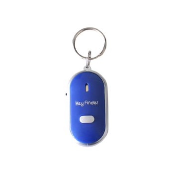 Smart Key Finder Anti-lost Whistle Sensors Keychain Tracker LED With Whistle Claps Locator white smart finder key locator anti lost keys chain keychain whistle sound control with led light wholesale