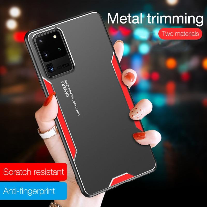 Ультратонкий металлический чехол для телефона из алюминиевого сплава для Huawei P20 P30 P40 Lite Pro Nova 3 3i 5 Pro 6 силиконовый защитный чехол-бампер
