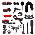 Sex Produkte Für Erwachsene Spiele Bondage Set BDSM Kits Vibrator Anal Plug Sex Spielzeug für Paare Fetisch Bondage Seil Flirten shop