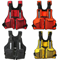 Adjustable Water Sports Life Jacket Buoyancy Aid Sailing Kayak Canoe Fishing Adult Life Vest Jacket Reflective Safety Wear