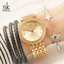 Shengke 시계 여성 브랜드 럭셔리 쿼츠 시계 세트 숙녀 시계 relogio feminino 2019 시계 팔찌 여성의 날 선물