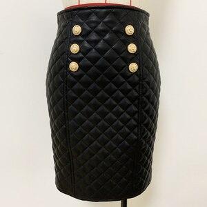 Image 3 - Высококачественная Дизайнерская Женская юбка из синтетической кожи 2020