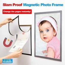 Photo Frame A4 A3 Magnetic Cadre Picture Baby Slam Proof Refrigerator Wall Decor Porta Retrato Marco Foto Ramka Na Zdjecie#YL5