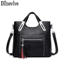 DIINOVIVO Vintage Ladies Handbags Women Messenger Bags Totes Tassel Crossbody Shoulder Bag 2019 Boston Hand Female WHDV1230