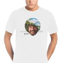 Bob Ross Artist The Joy Of Painting PSB U.S. Cult Tv Netflix Happy Trees Cool Casual pride t shirt men Unisex Fashion(China)