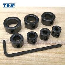цена на TASP 7pcs 3 - 12mm Drill Bit Depth Stop Collar Positioner Locator Woodworking Tools With Hex Wrench MDBK012