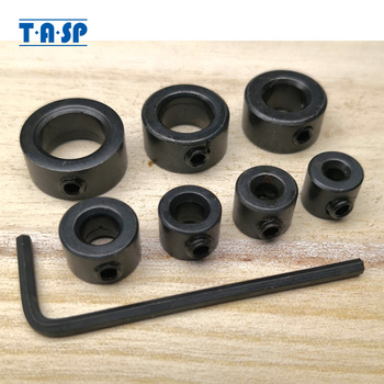 TASP 7pcs 3 - 12mm Drill Bit Depth Stop Collar Positioner Locator Woodworking Tools With Hex Wrench MDBK012
