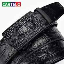 Cartelo-Men's-Belt Automatic-Buckle Crocodile-Pattern with High-Quality Leisure Business-Style