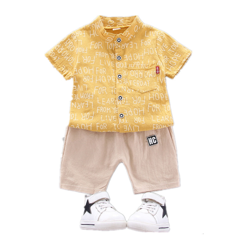 Set T-shirt Baby Summer Pants Sleeve Boy Outfit 2pcs Clothes Toddler Girl Child