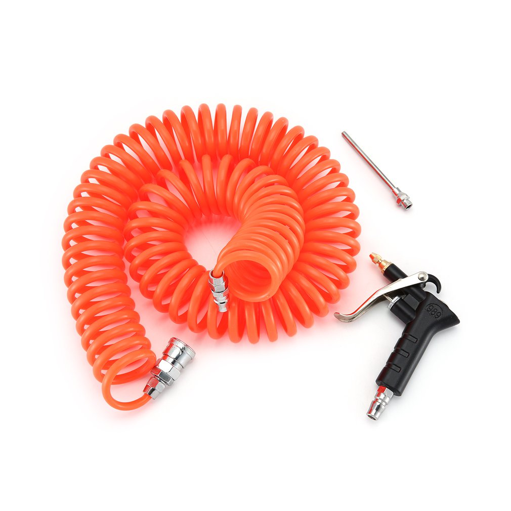 Copper Nozzle Air Duster Blow Gun Pneumatic Dust Removing With 9M Coiled Hose Tool Accessories For Truck Van Lorry Blower
