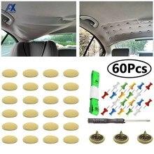 Kit de réparation de revêtement de toit, 60 pièces, bricolage, affaissement de la tête, vis à boucle ardillon, aucun indice pour réparation de plafond de vis de camion/voiture/Van