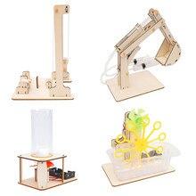 STEM игрушки для детей развивающий научный эксперимент набор игрушек «сделай сам» гидравлический экскаватор модель пазл Окрашенные Детские ...