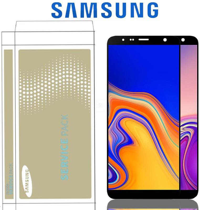 LCD Super AMOLED Original de 6,0 pulgadas para Samsung Galaxy J6 Plus J610 Pantalla de SM J610FN con piezas de repuesto de ensamblaje de pantalla táctil|Pantallas LCD para teléfonos móviles|   - AliExpress