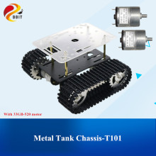 Умный робот шасси танка гусеничный автомобиль на платформе с 33GB-520 двигатель для Arduino DIY игрушка робот часть мини T101 Новое поступление