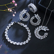 PANSYSEN 925 Sterling Silber AAA Cubic Zirkon Hochzeit Engagement Schmuck Sets Top Marke Halskette/Ohrringe/Armband Großhandel