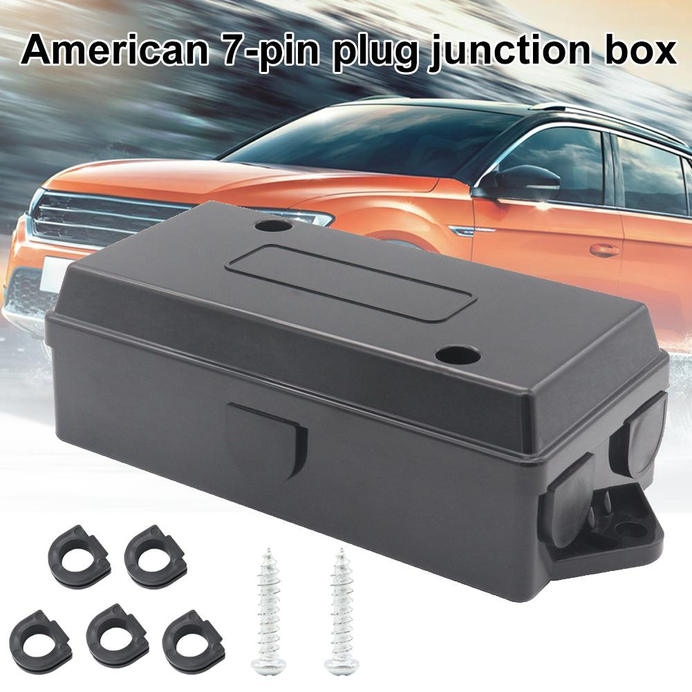 7-Port Durable Car Trailer Camper Boat Wiring Cable Wire Connection Plastic Junction Box