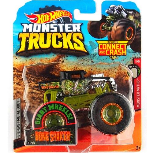 1: 64 оригинальные горячие колеса гигантские колеса Crazy Barbarism Монстр металлическая модель грузовика игрушки Hotwheels большая ножная машина детский подарок на день рождения - Цвет: 31