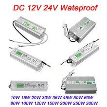 Ip67 transformadores de iluminação à prova d' água, transformadores dc 12v 24v, fonte de alimentação, driver de led para 5050 2835 3528 led, tira de luz