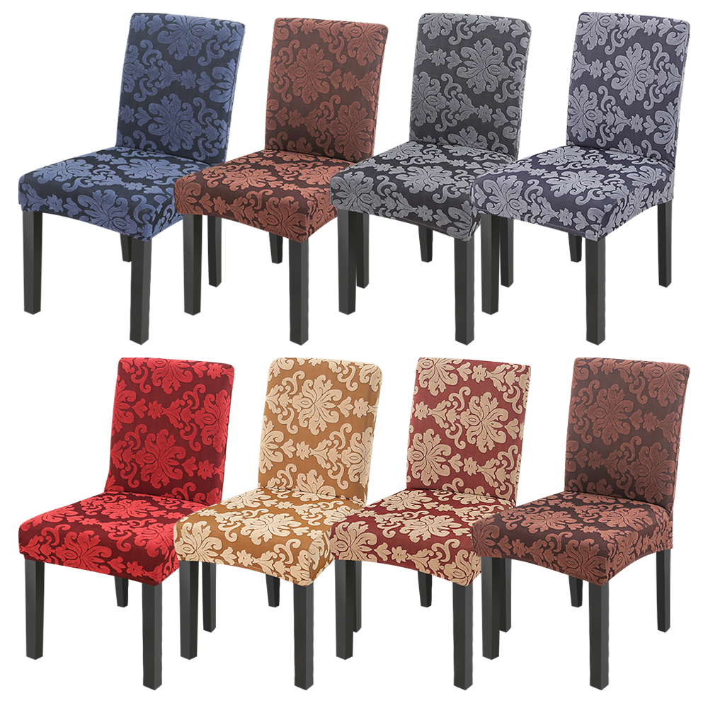 New 1/2/4Pcs Jacquard Stretch Chair Cover Elastic Seat Chair Covers Removable Slip Covers Restaurant Banquet Home Decoration