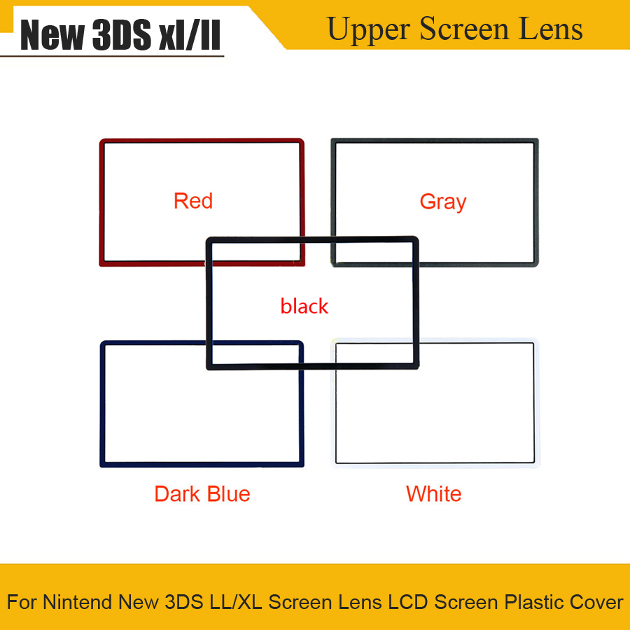 Top Upper Screen Lens LCD Screen Plastic Cover For Nintend New 3DS LL/XL Front LCD Screen Frame Lens Cover For New 3DS XL LL
