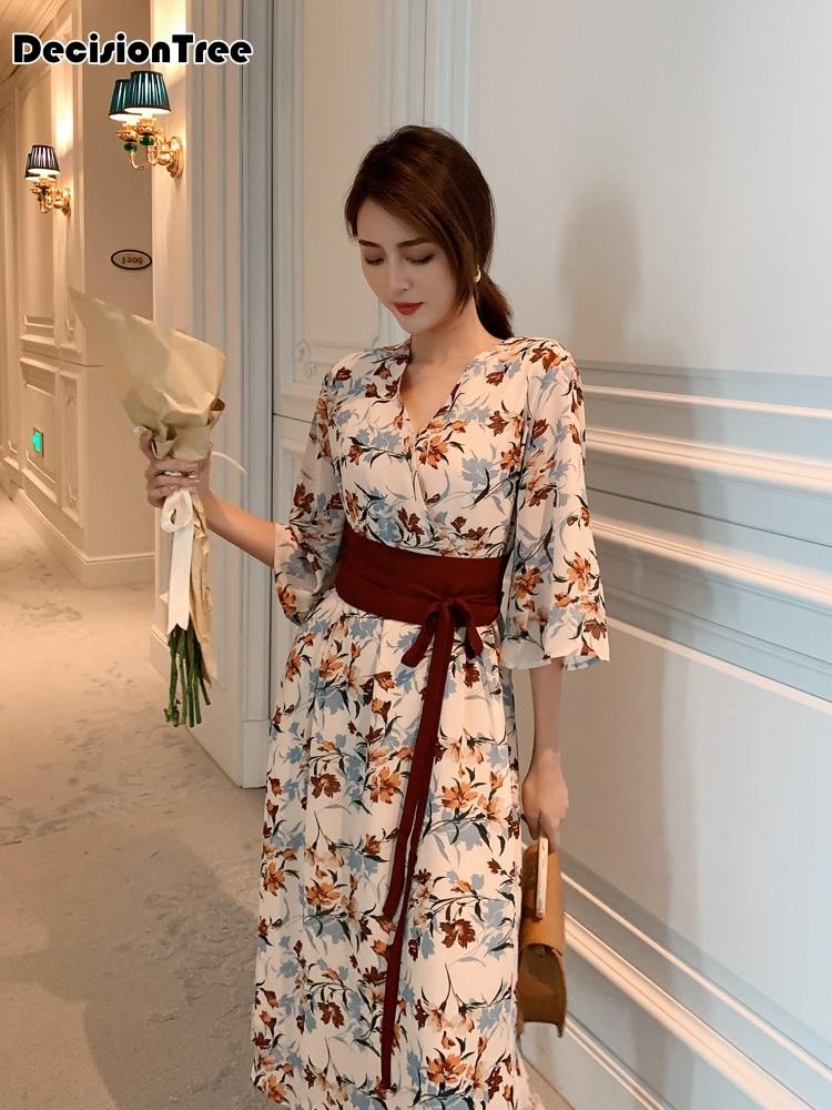 2019kimono Japanese Kimono Mujer Yukata Japan Kimono Dress Kimono Feminino Casual Japanese Style Kimono Women With Obi