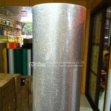 1.52*20m ม้วนทั้งเงินสีเขียวสีแดง High Glossy Glitter เพชรรถห่อเปลี่ยนสีฟิล์ม Glossy glitter สติกเกอร์ไวนิล