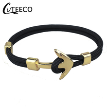 CUTEECO Trend Anchor Mens Bracelet Polyester Rope Accessories Paracord Bracelets Pulseira Masculina Feminina Jewelry