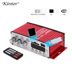 Image 2 - Kinter MA 120 Mini Amplifier audio 2.0CH 20W DC12V with USB SD FM play stereo sound supply power adapter in home car Motorcycle