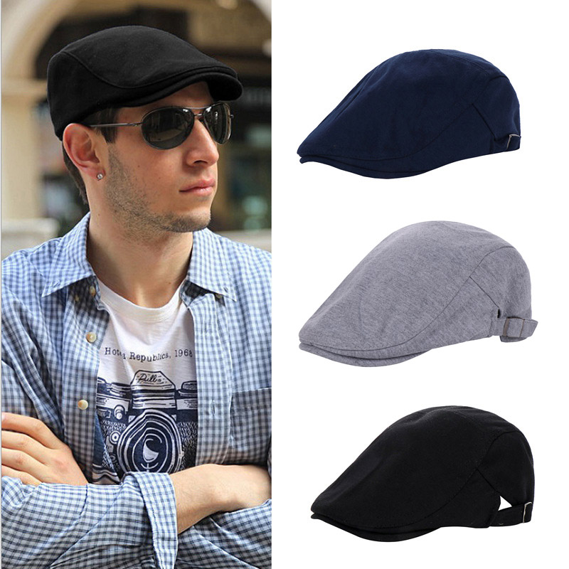 New Fashion Casual Beret Hats For Women Caps For Men Unisex Beret Hat Peaky Blinders Boina Solid Baseball Flat Cap Gorras Hombre