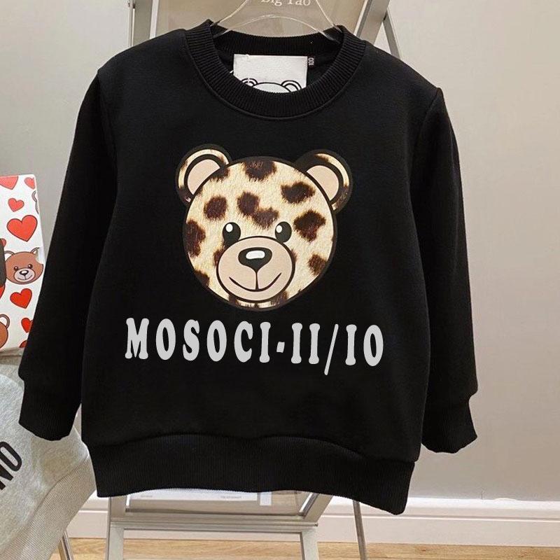 2021 nouveau chandail à manches longues T-shirt parent enfant costume dessin animé ours coton pull maman et moi vêtements correspondant à la famille tenues