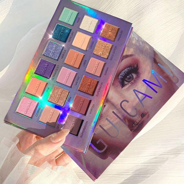 GUICAMI Mercury Retrograde Eyeshadow Palette 18 Colors Shimmer Matte Metallic Eye Shadow Powder Makeup Galaxy Eyes Cosmetic Kit 1