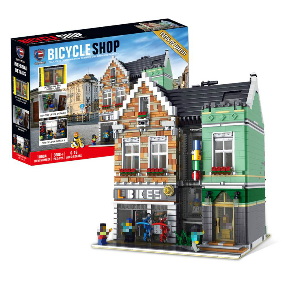 MOC City 3668pcs The brickstive Model Building Blocks Bricks Kits Compatible with City Street View Modular Toys Gifts