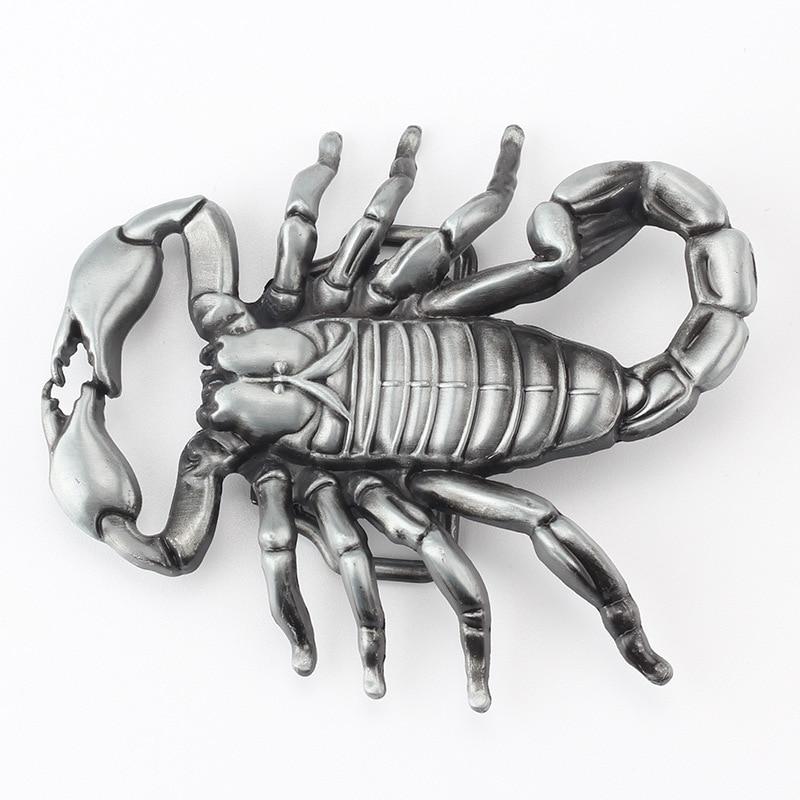 Scorpion alloy denim belt buckle