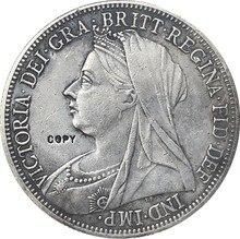 Uk 1894 1 Crown - Victoria 3rd портрет копия монет