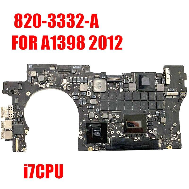 Логическая плата A1398 для MacBook Retina, материнская плата 15 дюймов 2,2 ГГц/2,4 ГГц/2,6 ГГц/8 ГБ 16 ГБ ОЗУ 1 ГБ GPU 2012 820-3332-A