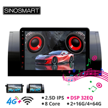 Sinosmart 9 zoll Android 8,1 Auto GPS Navigation Radio für BMW X5 (E53) 5 Serie (E39) e46 2000-2006 2Din 2,5 D IPS/QLED Bildschirm