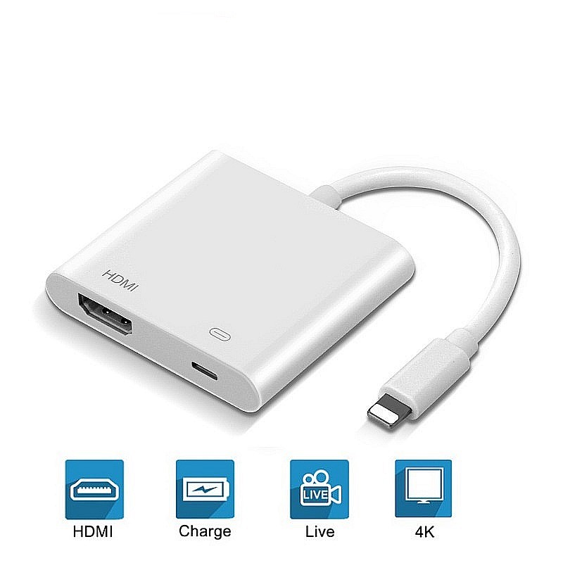 2020 New 4K 1080P for iPhone to HDMI 8-Pin Port HD TV  Projector Converter Adapter For Apple