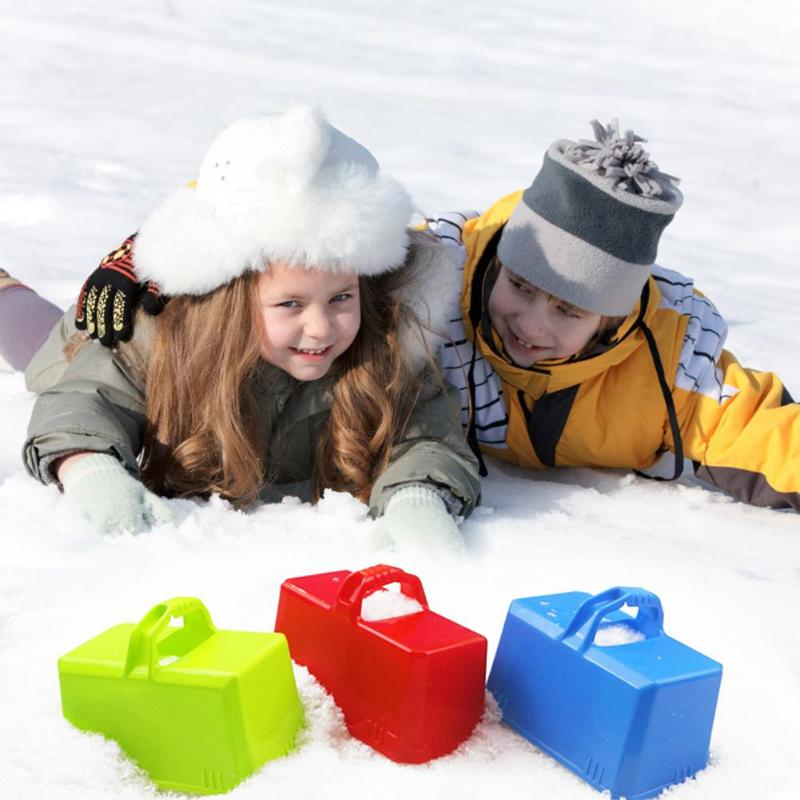 Funny Outdoor Winter Plastic Snow Sand Snow Block Mold Castle Foundation Brick Maker Mould Children Playing Accessory