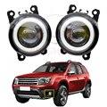 2 шт автомобильные аксессуары H11 светодиодный туман светильник Ангел глаз DRL Дневной светильник для Renault Duster Megane 2/3 Fluence Koleos Kangoo