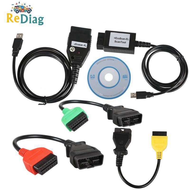 3 StüCke Diagnose Kabel Multi Ecu Scan Verbindungs Kabel für Fiat Ecu Scan A 4Y4