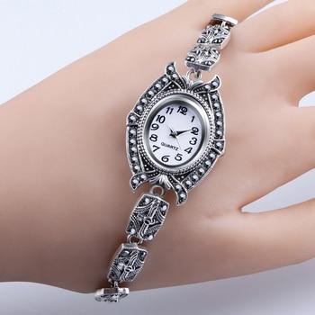 QINGXIYA Brand 2020 New Fashion Watches Women Antique silver Bracelet Ladies Quartz Wristwatches Female Clock Relogios Montre