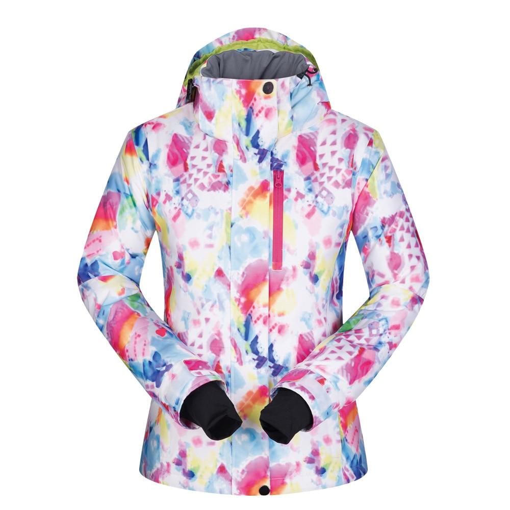 MUTUSNOW Ski Jacket Women Winter Waterproof Windproof Sportwear Female Winter Jacket Snowboarding Coat