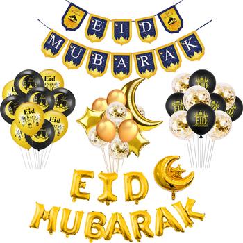 Eid Mubarak Banner balon Mubarak Ramadan wystrój domu islamski muzułmanin Party Decor Kareem Ramadan i Eid wystrój Eid AL Adha tanie i dobre opinie QIFU CN (pochodzenie) W8036 Id al-Fitr