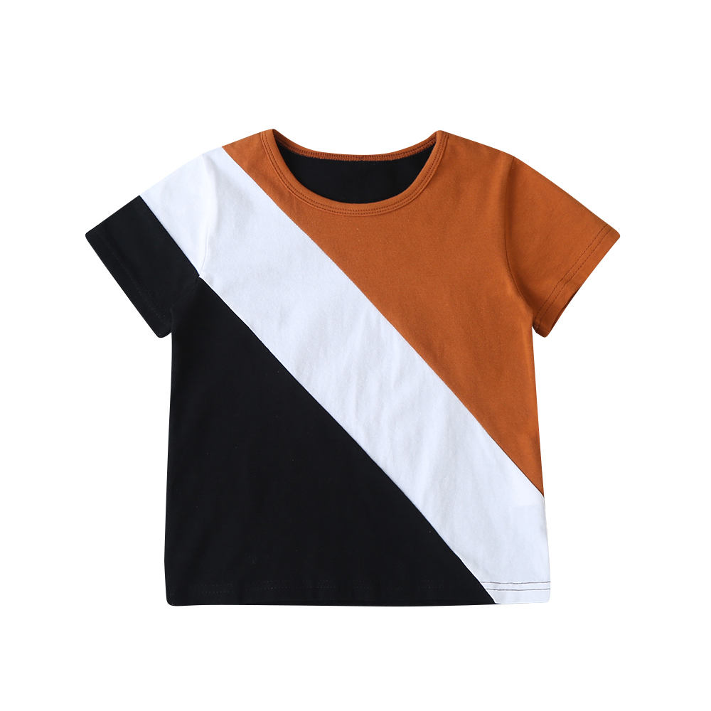 2020 Kids Boys T-shirt Summer Toddler Short Sleeve Round Neck Pullover Baby Boy Loose Top Boys Clothing Cotton Children Shirts
