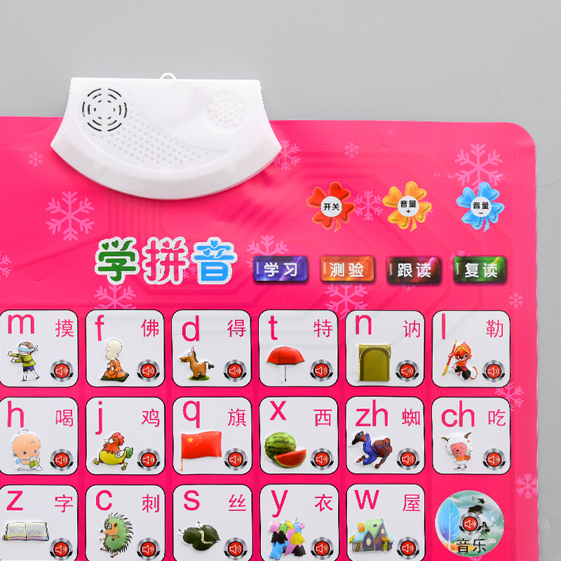 Children Early Education Audio Chart Voice Read Sound Making Hanging Painting Baby Pinyin With Pictures Reading CHILDREN'S Cogni