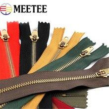 Metal Zipper Meetee Garment-Accessories Jeans Zips 10pcs for DIY Sewing Bag A4-17 15cm/18cm