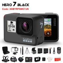 Original gopro hero 7 preto câmera de ação à prova dwaterproof água 4k ultra hd vídeo 12mp fotos 1080p streaming ao vivo ir pro hero7 esportes cam