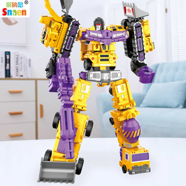Transformation Robot Action Figures Diecast Engineering Deformed Toy Cars Blocks Assemble Educational Toys for Childrens Boys 2