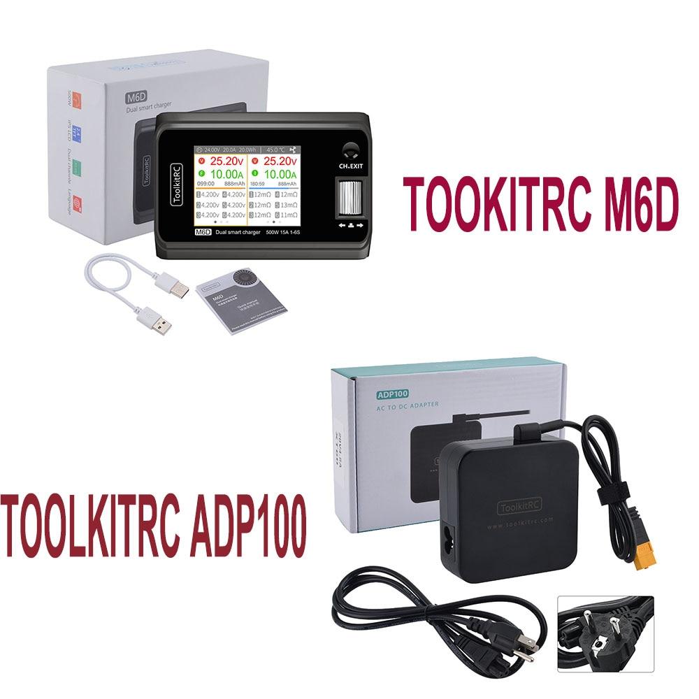В наличии ToolkitRC M6D 500w 15A DC Dual Channel Smart Charger Dis charger Battery Balance для 1-6S Lipo LiHV Lion NiMh Pb Cell